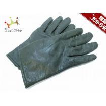 DKNY スーパーコピー(ダナキャラン コピー) 手袋 レディース ダークグリーン レザー-1