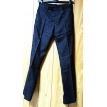 コピー Dior HOMME スーパーコピーディオールオム スーパーコピー スラックス黒系紺 42P スーツ シルバーストライプパンツ-1