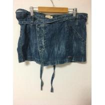 DIESEL スーパーコピー デニムミニ巻きスカート size L-1