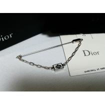 コピー未 Dior HOMME スーパーコピー ディオールオム  CDR ロゴチェーンブローチ 銀 付属有 兼用-1