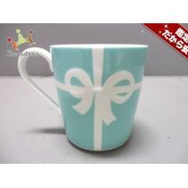 ティファニー スーパーコピー マグカップ新品同様  ブルーボウ ライトブルー×白 陶器-1