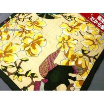 Tiffany&Co.(ティファニー スーパーコピー) スカーフ アイボリー×黒×マルチ 鳥・花柄-1