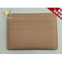 スーパー コピー Tiffany&Co.(ティファニー ) カードケース美品  ベージュ レザー-1