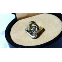 コピー良 コピー Tiffany ティファニー コピー ツインハートリング 10号 SV925×K18 YG750 指輪-1