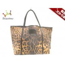 DOLCE&GABBANA(ドルチェアンドガッバーナ スーパー コピー) トートバッグ 黒×ブラウン 豹柄-1