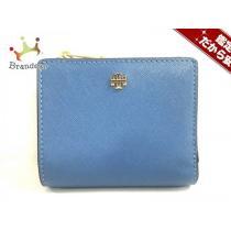TORY Burch (トリーバーチ スーパー コピー) 2つ折り財布美品  ブルー レザー-1