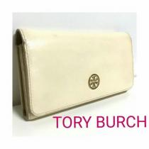 コピー TORY Burch スーパーコピー レザー 長財布 クリーム 白 オフベージュ-1
