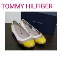 TOMMY HILFIGER コピー レザー クロコ フラットシューズ パンプス 黄 靴-1