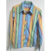 トミー ストライプシャツ 12 レインボー系-1