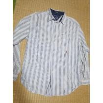 トミー ストライプシャツ L位-1