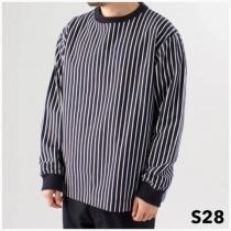 S28XS■新品★ナナミカ バーチカル ストライプ 長袖 Tシャツ XS-1
