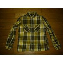 NEIGHBORHOOD スーパーコピーネイバーフッド スーパー コピーBEERチェックシャツS黄×茶系ネル-1