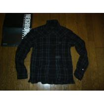 美中古NEIGHBORHOOD コピーBLACKICONチェックシャツジャケットS黒-1