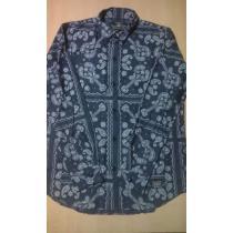NEIGHBORHOOD スーパーコピー signal bandana shirt 長袖シャツ M ネイビー-1