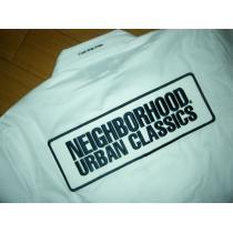 新品ネイバーフッド コピーNEIGHBORHOOD スーパー コピーワークシャツM白ワッペン半袖-1