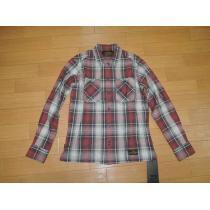新品NEIGHBORHOOD コピーネイバーフッド スーパー コピーLOGGERチェックシャツS赤17-1