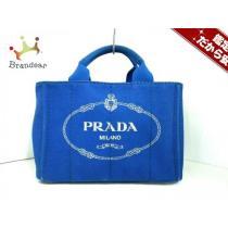 PRADA (プラダ コピー) トートバッグ CANAPA B2439G ブルー キャンバス-1