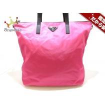 プラダ  ショルダーバッグ美品  - BR4696 ピンク×黒 ナイロン×レザー-1