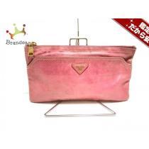 PRADA コピー(プラダ コピー) セカンドバッグ - ピンク 革タグ レザー-1