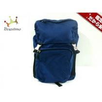 PRADA スーパー コピー(プラダ スーパー コピー) リュックサック美品  - V135 ブルー×黒 ナイロン-1