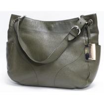 Furla スーパーコピーフルラ  ハンドバッグ 肩掛け可能 レザー 深緑 コピー品-1