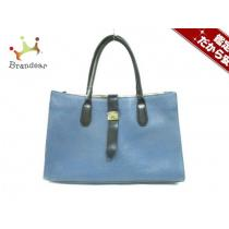 Furla スーパーコピー(フルラ スーパーコピー) ハンドバッグ ブルー×黒×マルチ レザー-1