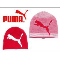 PUMA PMGO2123 ニットキャップ リバーシブルビーニー 赤-1