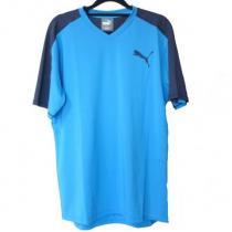 新品◆定価6480円PUMA スーパー コピー青VネックロゴPRWクールTシャツ(XL)-1