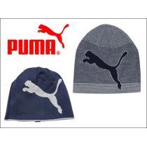 PUMA PMGO2123 ニットキャップ リバーシブルビーニー 青-1