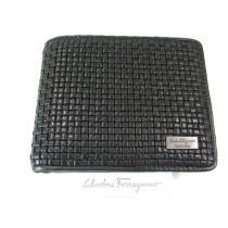 良品フェラガモ コピー二つ折り財布 レザー 黒系-1