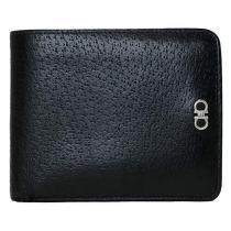 コピーフェラガモ 二つ折り財布メンズブラックレザー本革黒-1
