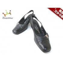 サルバトーレフェラガモ スーパーコピー パンプス5 D レディース ヴァラ 黒 レザー-1