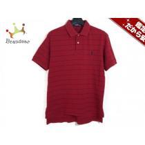 POLObyRalphLAUREN コピー(ポロラルフローレン コピー) 半袖ポロシャツS メンズ レッド×ネイビー-1