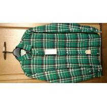 激安76%オフラルフローレン スーパー コピー、Polo、長袖シャツ(新品タグ、緑×黒、Mサイズ)-1