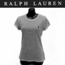 送無ラルフローレン コピー綿100%ピンボーダー半袖TシャツL/ralphLAUREN スーパー コピー-1