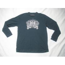 30 男 ラルフローレン コピー ポロジーンズ 黒 長袖Tシャツ L-1