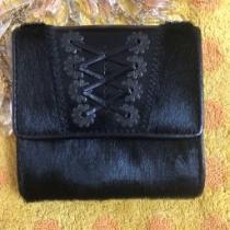 ラルフローレン スーパーコピー☆ハラコ黒折財布-1