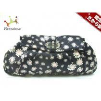 ミュウミュウ  クラッチバッグ美品  - RP0221 黒×ピンク×白 花柄/ラインストーン-1