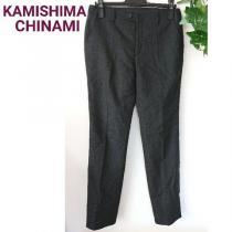 KAMISHIMA CHINAMI カミシマチナミ スラックス パンツ グレー-1
