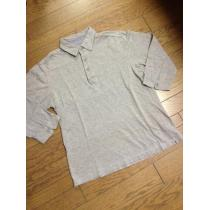 美品BEAUTY&YOUTH 5分丈ポロシャツ くるみボタン アローズ-1
