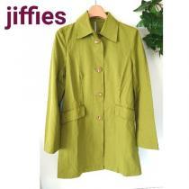 jiffies ジフィズ ステンカラー コート ライム グリーン 抹茶-1