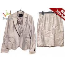 ユナイテッドアローズ スーパー コピー スカートスーツ40 レディース美品  ベージュ 肩パッド-1