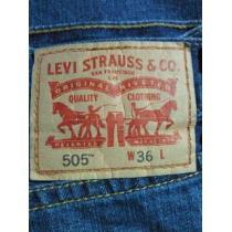 デニム ショーツ ジーンズ Levis リーバイス スーパー コピー 505 短パン ウエスト 36インチ 91㎝ ブルー-1