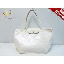 LONGCHAMP スーパー コピー(ロンシャン スーパーコピー) ショルダーバッグ 白 PVC(塩化ビニール)×レザー-1