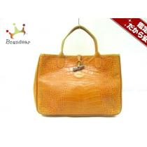 LONGCHAMP スーパー コピー(ロンシャン コピー) トートバッグ オレンジ レザー-1