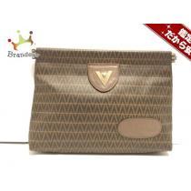 VALENTINO コピー(バレンチノ) クラッチバッグ ブラウン PVC(塩化ビニール)-1