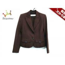 VALENTINO スーパー コピー(バレンチノ) ジャケット6 レディース美品  ダークブラウン 肩パッド-1