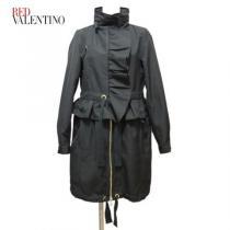 新品レッドヴァレンティノ コピーRED VALENTINO スーパー コピーナイロンコート38黒-1