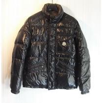 size1 モンクレール スーパー コピー 胸ワッペン ダウンジャケット ブラック-1