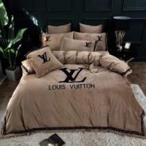 寝具 通販 安いおすすめヴィトン スーパーコピー 布団カバーセット おしゃれ Louis Vuitton 丸洗いできる布団ベット用-1